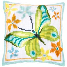 Kruissteekkussen groene vlinder