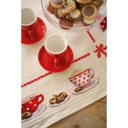 Tafelkleed kit op de koffie