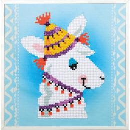 Diamond painting kit Lama